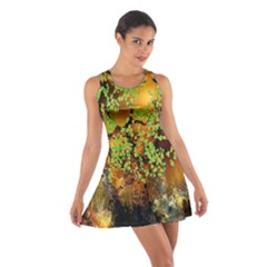 Backdrop Background Tree Abstract Cotton Racerback Dress
