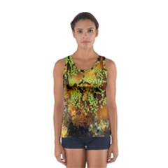 Backdrop Background Tree Abstract Women s Sport Tank Top
