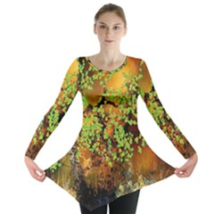 Backdrop Background Tree Abstract Long Sleeve Tunic