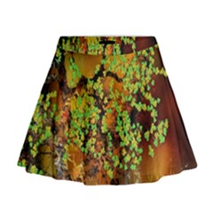 Backdrop Background Tree Abstract Mini Flare Skirt