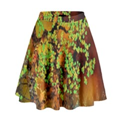 Backdrop Background Tree Abstract High Waist Skirt