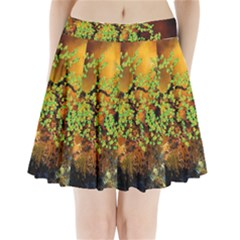 Backdrop Background Tree Abstract Pleated Mini Skirt