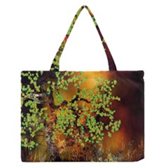 Backdrop Background Tree Abstract Medium Zipper Tote Bag