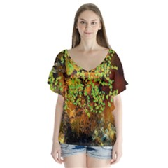 Backdrop Background Tree Abstract Flutter Sleeve Top