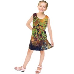 Backdrop Background Tree Abstract Kids  Tunic Dress