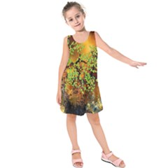 Backdrop Background Tree Abstract Kids  Sleeveless Dress