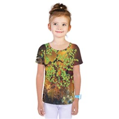 Backdrop Background Tree Abstract Kids  One Piece Tee