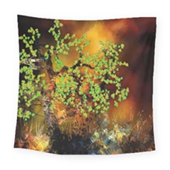 Backdrop Background Tree Abstract Square Tapestry (Large)