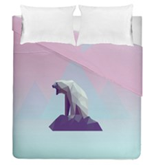 Polar Bears Animals White Duvet Cover Double Side (queen Size) by Alisyart