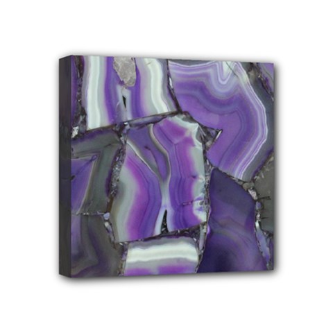 Purple Agate Natural Mini Canvas 4  X 4  by Alisyart