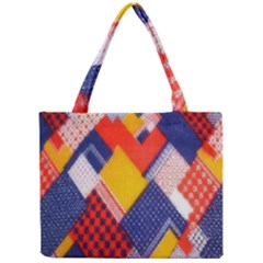 Background Fabric Multicolored Patterns Mini Tote Bag by Nexatart