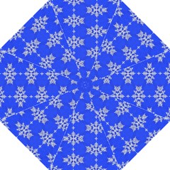 Background For Scrapbooking Or Other Snowflakes Patterns Hook Handle Umbrellas (large)