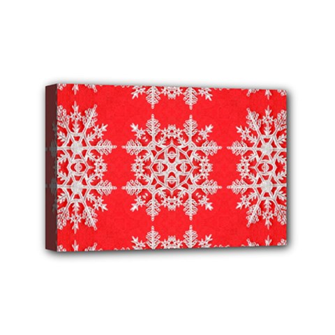 Background For Scrapbooking Or Other Stylized Snowflakes Mini Canvas 6  X 4