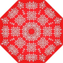 Background For Scrapbooking Or Other Stylized Snowflakes Straight Umbrellas by Nexatart