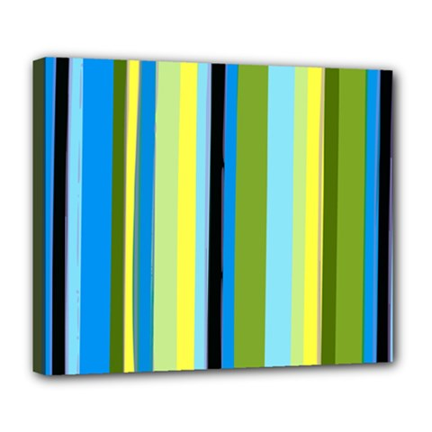 Simple Lines Rainbow Color Blue Green Yellow Black Deluxe Canvas 24  X 20   by Alisyart