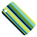 Simple Lines Rainbow Color Blue Green Yellow Black Apple iPhone 4/4S Hardshell Case (PC+Silicone) View5