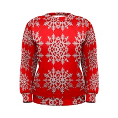 Background For Scrapbooking Or Other Stylized Snowflakes Women s Sweatshirt