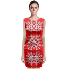 Background For Scrapbooking Or Other Stylized Snowflakes Classic Sleeveless Midi Dress