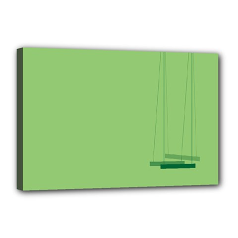 Swing Children Green Kids Canvas 18  X 12  by Alisyart