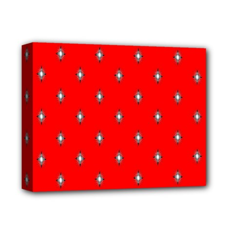 Simple Red Star Light Flower Floral Deluxe Canvas 14  X 11