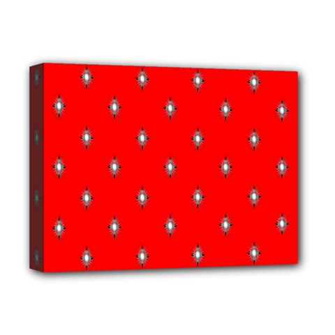 Simple Red Star Light Flower Floral Deluxe Canvas 16  X 12   by Alisyart
