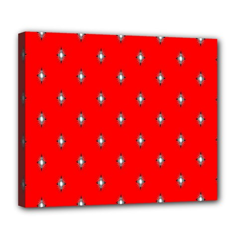 Simple Red Star Light Flower Floral Deluxe Canvas 24  X 20