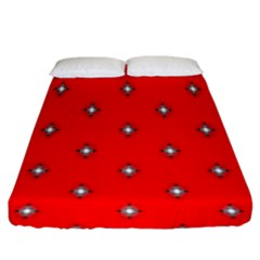 Simple Red Star Light Flower Floral Fitted Sheet (king Size)