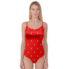 Simple Red Star Light Flower Floral Camisole Leotard