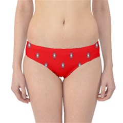 Simple Red Star Light Flower Floral Hipster Bikini Bottoms