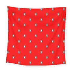 Simple Red Star Light Flower Floral Square Tapestry (large) by Alisyart