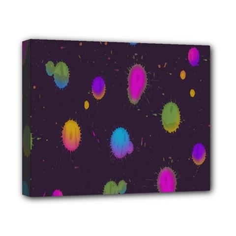 Spots Bright Rainbow Color Canvas 10  X 8