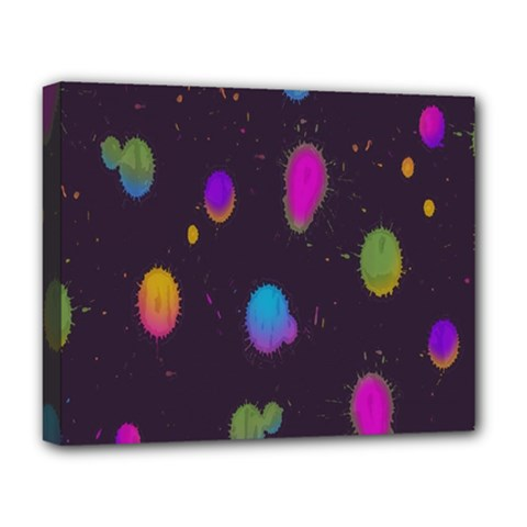 Spots Bright Rainbow Color Deluxe Canvas 20  X 16