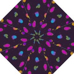 Spots Bright Rainbow Color Hook Handle Umbrellas (medium)