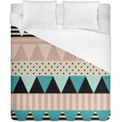 Triangle Wave Chevron Grey Duvet Cover (california King Size) by Alisyart