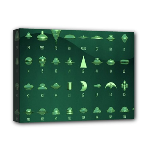 Ufo Alien Green Deluxe Canvas 16  X 12