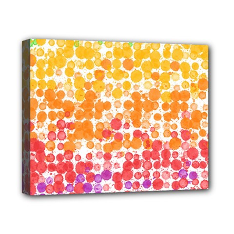 Spots Paint Color Green Yellow Pink Purple Canvas 10  X 8  by Alisyart