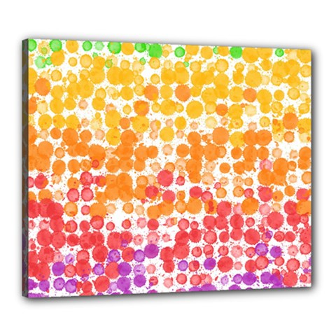Spots Paint Color Green Yellow Pink Purple Canvas 24  X 20  by Alisyart