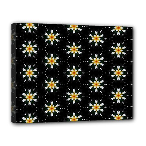 Background For Scrapbooking Or Other With Flower Patterns Canvas 14  X 11  by Nexatart