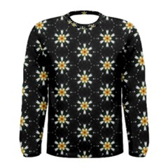 Background For Scrapbooking Or Other With Flower Patterns Men s Long Sleeve Tee