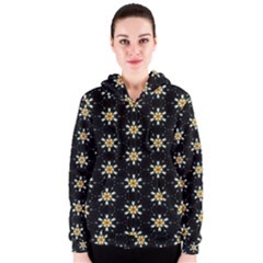 Background For Scrapbooking Or Other With Flower Patterns Women s Zipper Hoodie by Nexatart