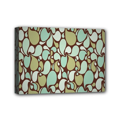 Leaf Camo Color Flower Floral Mini Canvas 7  X 5  by Alisyart
