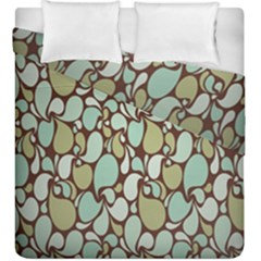 Leaf Camo Color Flower Floral Duvet Cover Double Side (king Size)