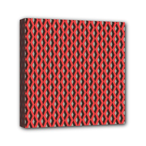 Hexagon Based Geometric Mini Canvas 6  X 6  by Alisyart