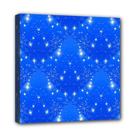 Background For Scrapbooking Or Other With Snowflakes Patterns Mini Canvas 8  X 8
