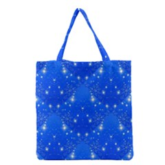 Background For Scrapbooking Or Other With Snowflakes Patterns Grocery Tote Bag by Nexatart