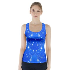 Background For Scrapbooking Or Other With Snowflakes Patterns Racer Back Sports Top by Nexatart