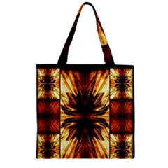 Background Pattern Zipper Grocery Tote Bag