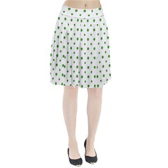 Saint Patrick Motif Pattern Pleated Skirt by dflcprintsclothing