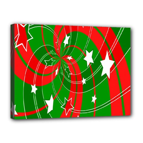 Background Abstract Christmas Canvas 16  X 12  by Nexatart