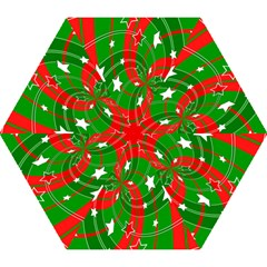 Background Abstract Christmas Mini Folding Umbrellas